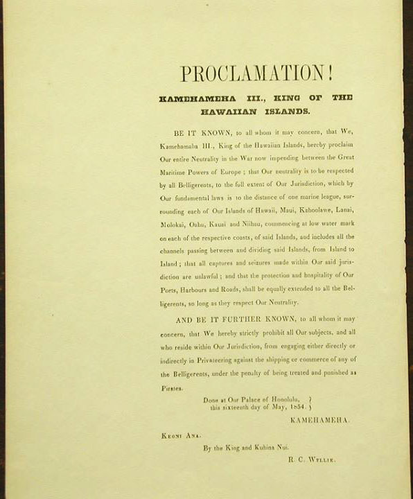 Hawaii-Neutrality-Proclamation