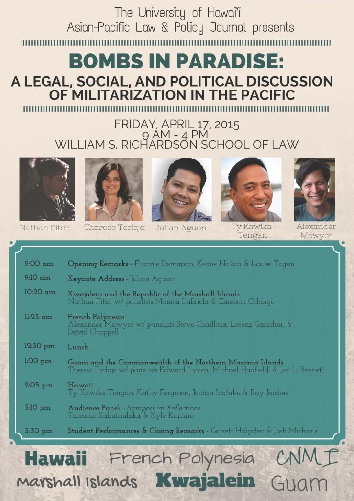 Bombs Pacific symposium flyer