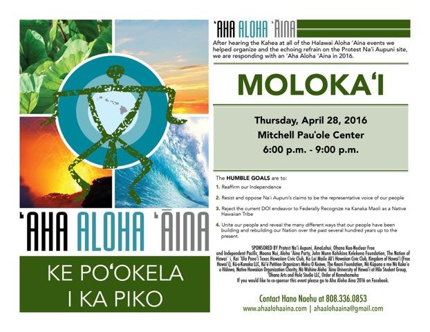 Aha-Aloha-Aina-Molokai