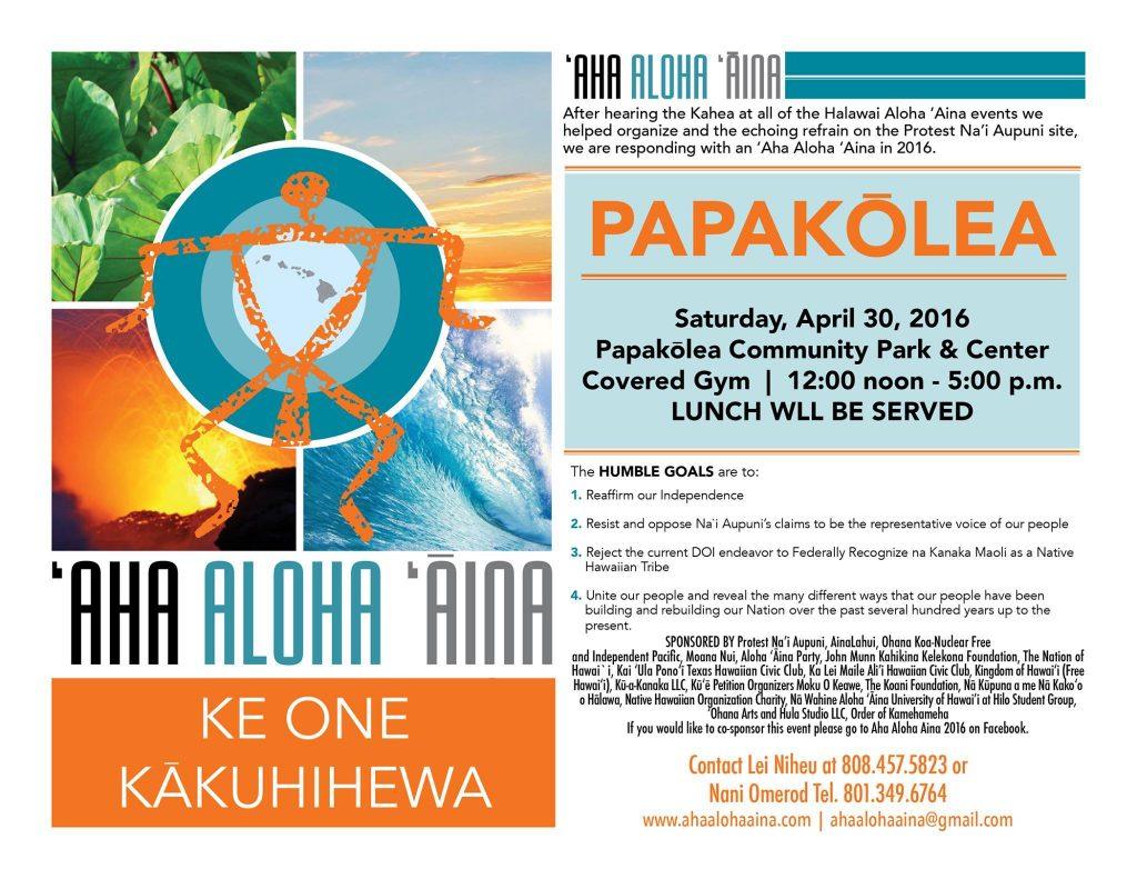 Aha-Aloha-Aina-Papakolea
