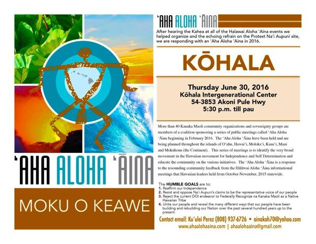 AhaAlohaAina-Kohala