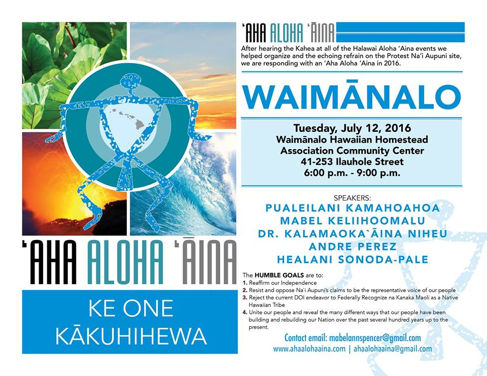 'Aha Aloha 'Aina Waimanalo